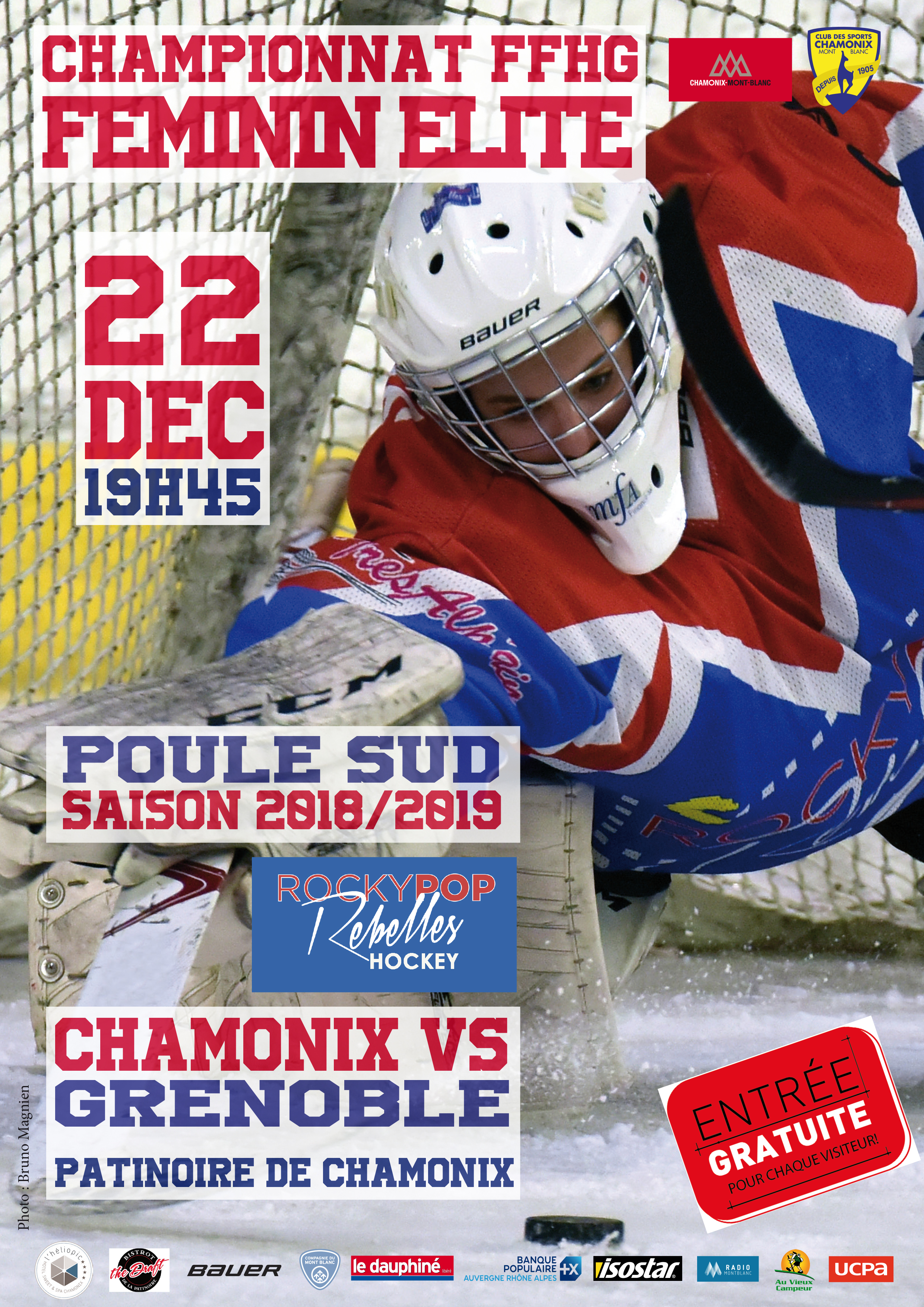 Match de Hockey RockyPop Rebelles VS Grenoble